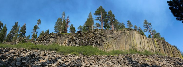 An average Postpile columns is two feet in diameter, however few are more than thick to around 3.5 feet and 60 feet long.