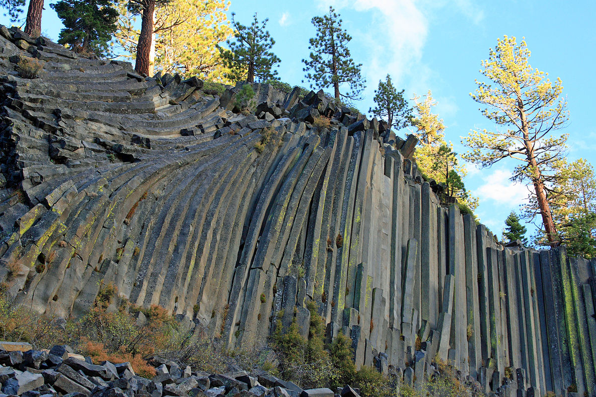 Devils Postpile National Monument, near Mammoth Lakes in the Eastern Sierra.