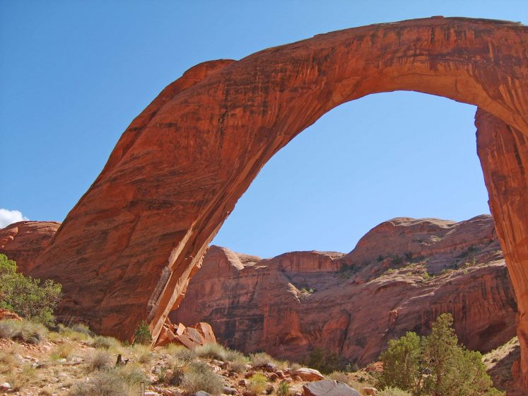 The best time to visit Rainbow Bridge National Monument is April, May-early June, September, and October.