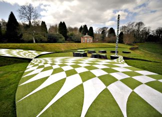The 'Garden of Cosmic Speculation', in the grounds of Portrack House in Holywood near Dumfries, includes twisted undulating landforms and sculptures designed by Charles Jencks. Picture by JANE BARLOW