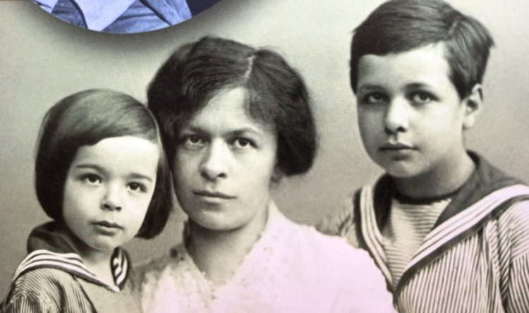 College sweetheart Einstein's first wife was Mileva Maric, a young Serbian mathematician. She is pictured here in 1914 with their sons Eduard (left) and Hans Albert.
