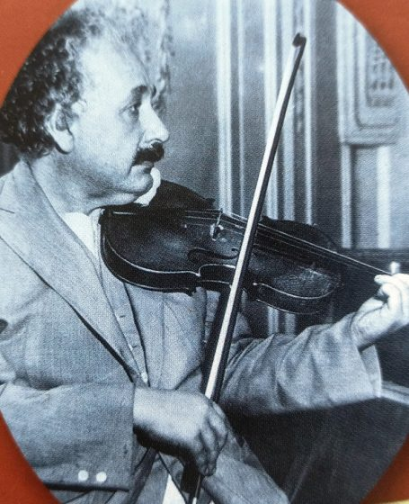Einstein playing the violin on his return voyage to Germany on the liner Belgenland in early 1933. When be learned that Hitler was the new German Chancellor.