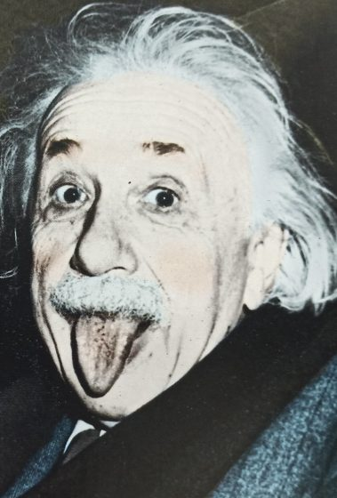 Captured for posterity - This famous photo of Einstein was taken on his 72nd birthday on 14 March 1951.