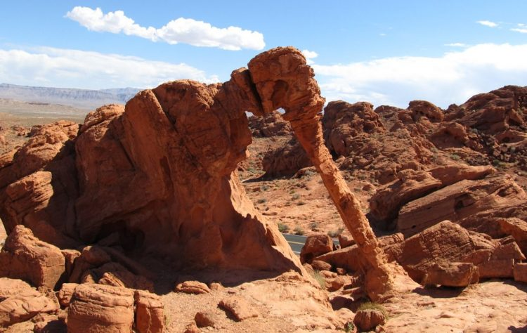 The climate condition of Valley of Fire State Park is dry and warm like the Mojave Desert in which it lies.