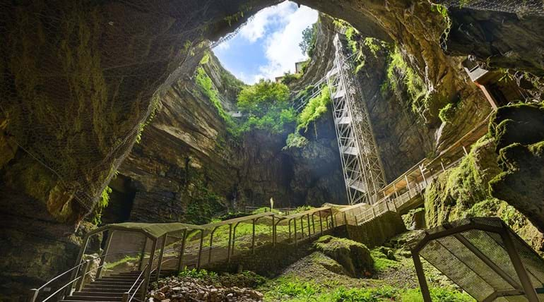 Padirac Chasm is the most regularly visited underground tourism facility in France.