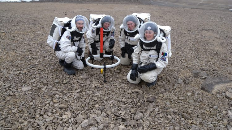 Since 2004, this Island became a brief home for five researchers and two journalists, who were to use the Mars-like environment to simulate living and working on that planet.