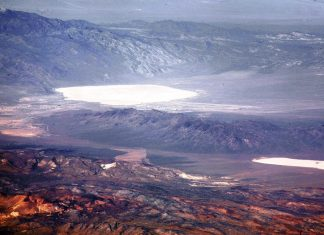 Groom Lake is a dry Salt Lake in Nevada. It is used for runways of Nellis Bombing Range Test Site Airport Part of Area 51 USAF installation.